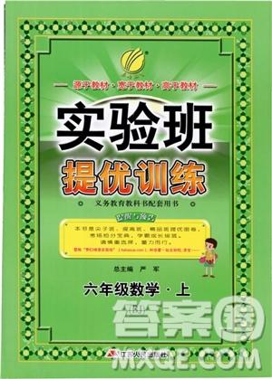2018秋实验班提优训练6六年级数学上册北京版BJ参考答案