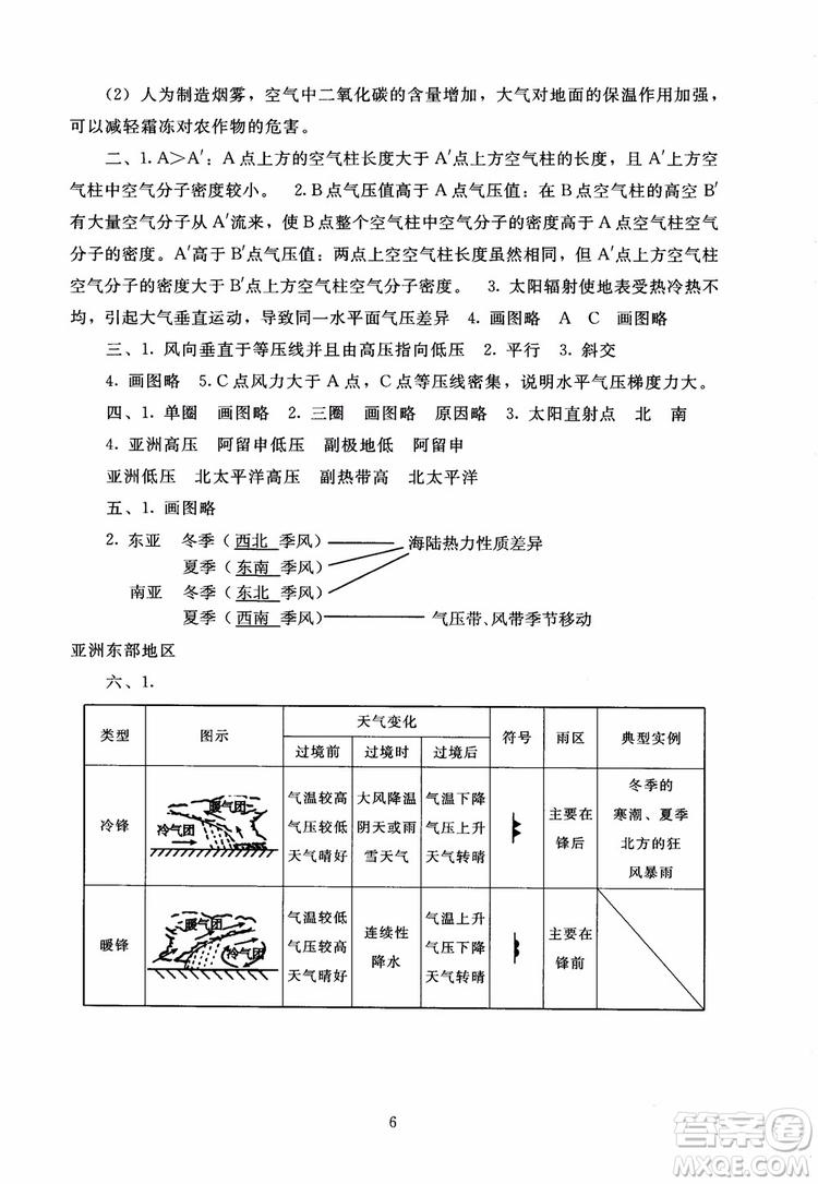 京师普教2018海淀名师伴你学同步学练测高中地理必修1参考答案