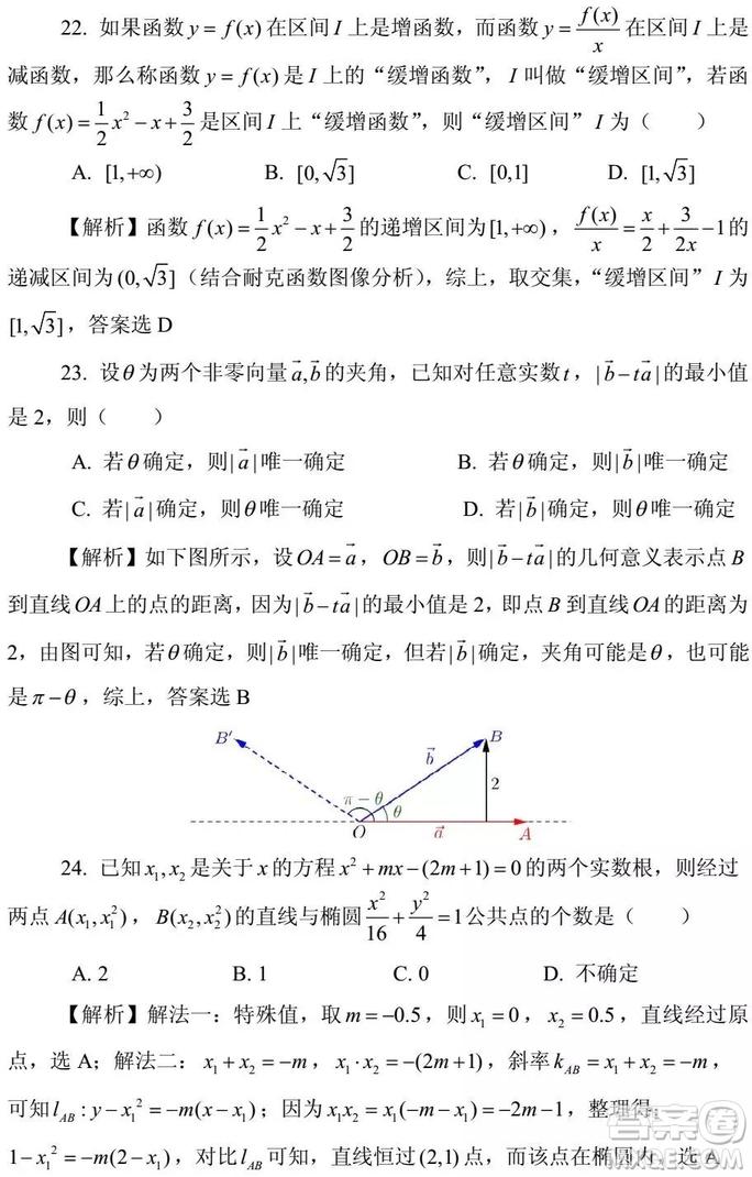 2015-2018年上海高三一模数学填选难题解析汇总
