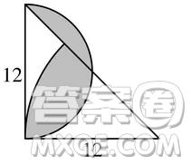 求图中阴影部分的面积为() .(π=3.14)