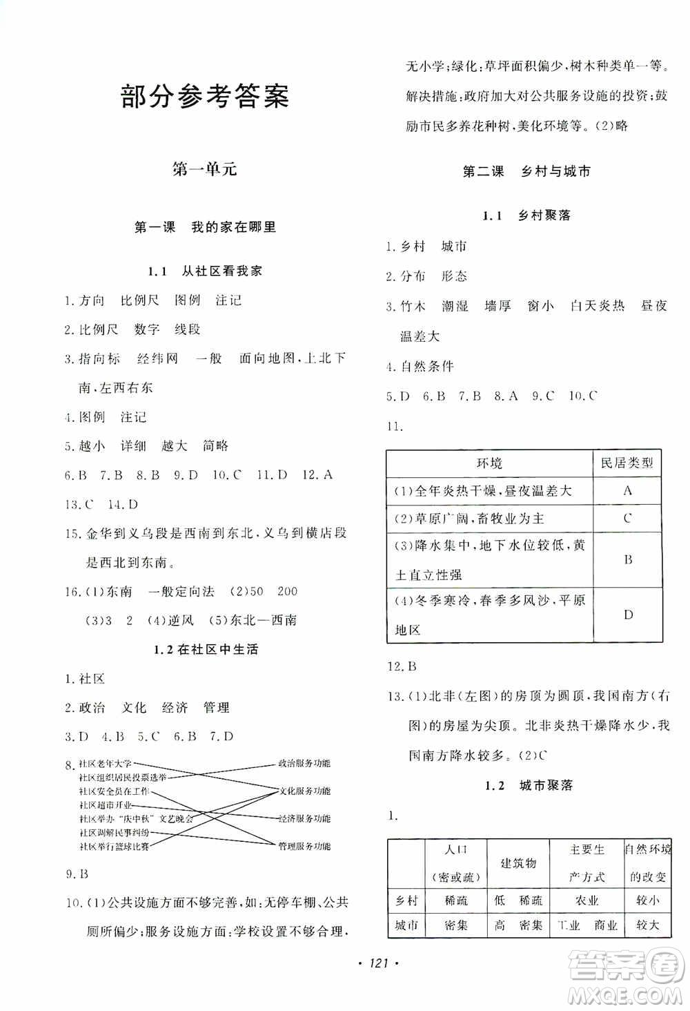 花山小状元2019学科能力达标初中生100全优卷历史与社会七年级上册答案